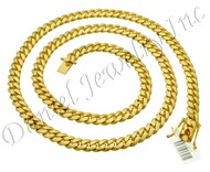 9mm Miami Cuban Link 18k Chain