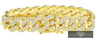 17mm Miami Cuban Link 14k 19.50ct Diamond Bracelet