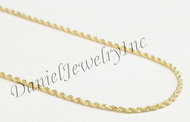 "Rope Solid Chain 24"" 22"" 20"" 14k gold 1.5mm 5g Yellow Necklace Twist"