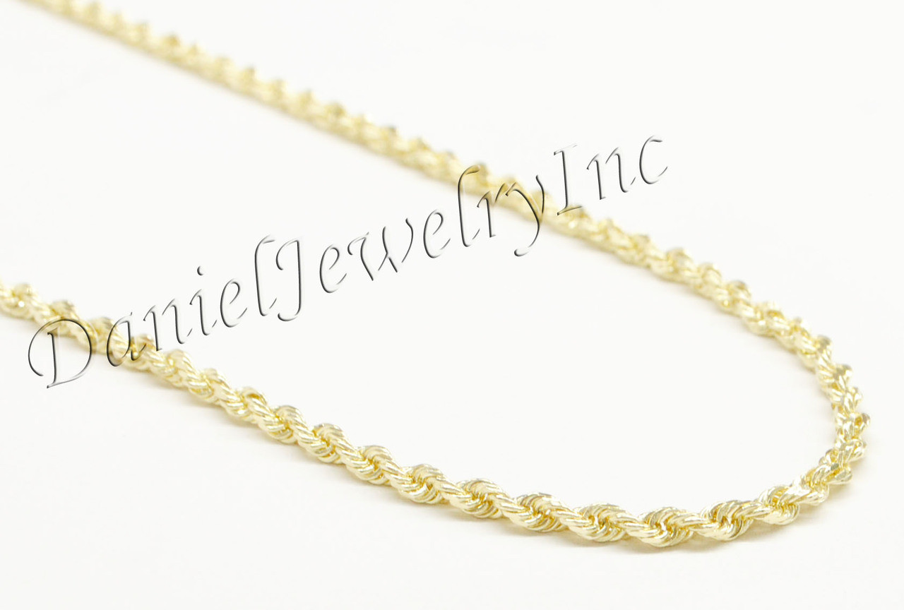 Rope Solid Chain 26 24 22 14k Gold 3mm 19 4g Yellow Necklace Twist