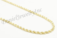 "Rope Solid Chain 30"" 28"" 26"" 24"" 22"" 14k gold 3mm 23g Yellow Necklace Twist"
