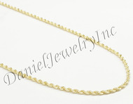 "Rope Solid Chain 26"" 24"" 22"" 20"" 14k gold 2mm 10g Yellow Necklace Twist"