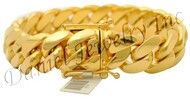 19mm Miami Cuban Link 14k Bracelet