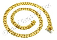 13mm Miami Cuban Link 14k Solid Chain