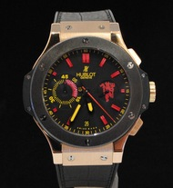 Hublot Manchester United Big Bang Ceramic Red Devil Special Peice 18k Gold 44.5mm