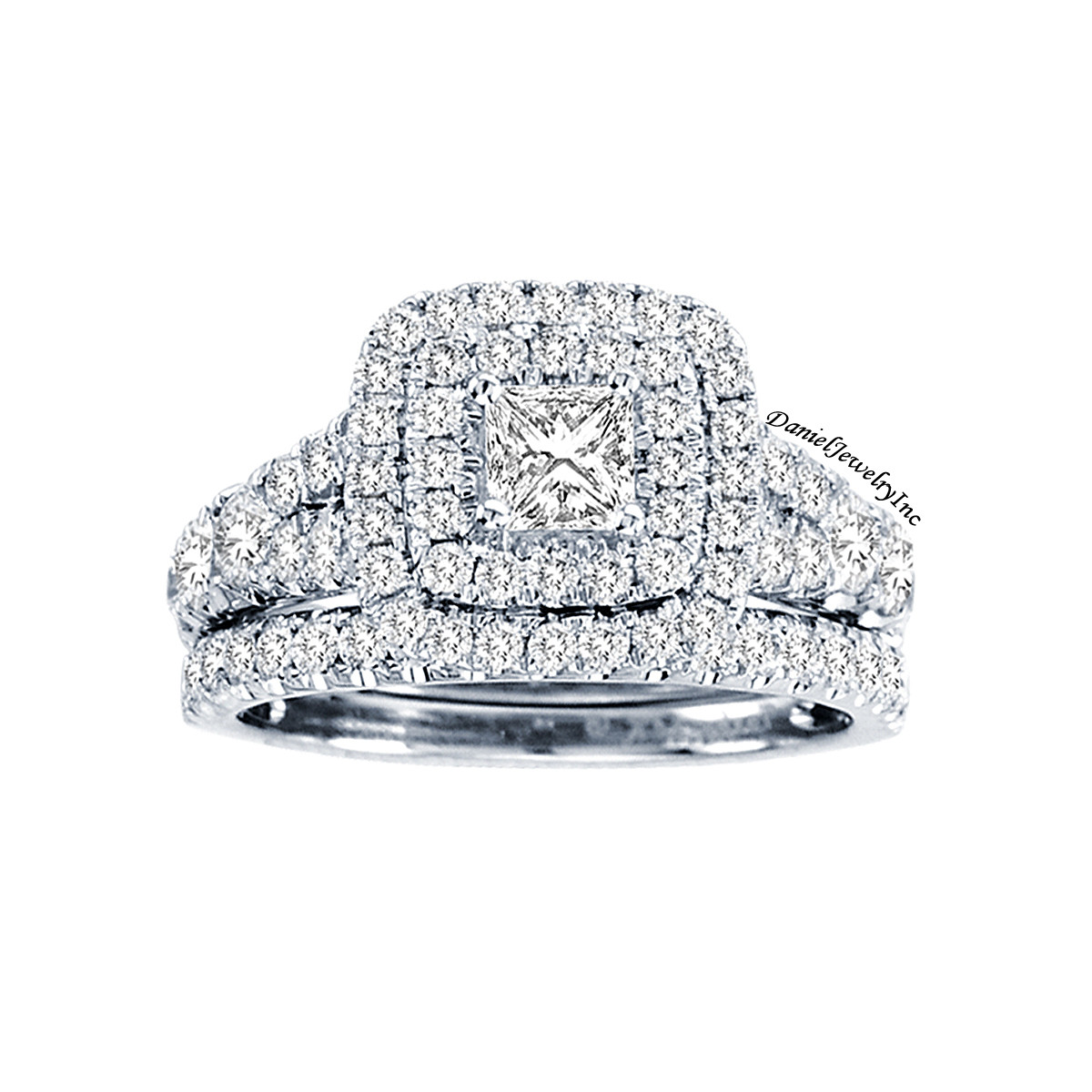 Bridal Ladies 2 01ct Diamond Wedding Ring White Gold 14k