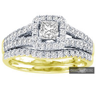 New Bridal Ladies 1.00ct Diamond Wedding Ring Yellow Gold 14k