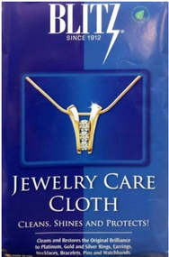 Blitz Jewelry Care Cloth Cleans Shines and Protects