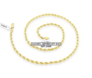 "Rope Solid Chain 26"" 24"" 22"" 20"" 18"" 14k gold 4mm 35g Yellow Necklace Twist"