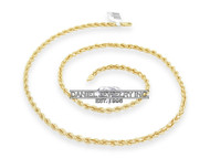 "Rope Solid Chain 26"" 24"" 22"" 14k gold 5mm 60g Yellow Necklace Twist"