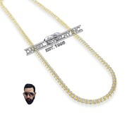 """CubaKnow 26"""" 24"""" 22"""" 14k gold 4.5mm"""