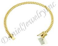 5mm Miami Cuban Link 14k Solid Bracelet Box Lock