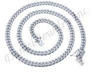 8mm Miami Cuban Link .925 Silver Chain