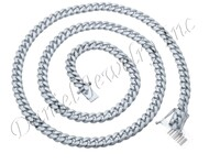 9mm Miami Cuban Link .925 Silver Chain
