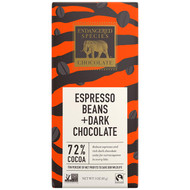 Endangered Species Chocolate Tiger Bar; Dark Chocolate with Expresso Beans