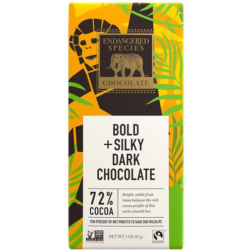 Endangered Species Fair Trade Dark Chocolate Chimpanzee Bar 72% Cocoa