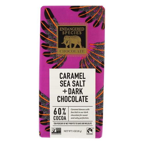 Endangered Species Fair Trade Dark Chocolate Caramel Sea Salt