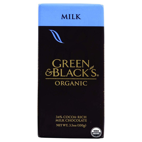Green & Black's, Organic Milk Chocolate Bar, 34% Cocoa, 3.5 oz