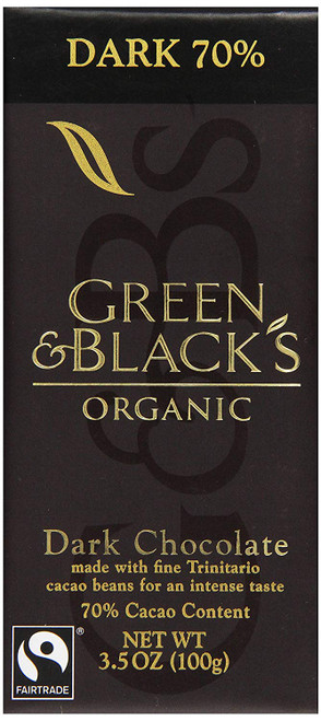 Green & Black's, Organic Chocolate Bar, 70% Cocoa, 3.5 oz