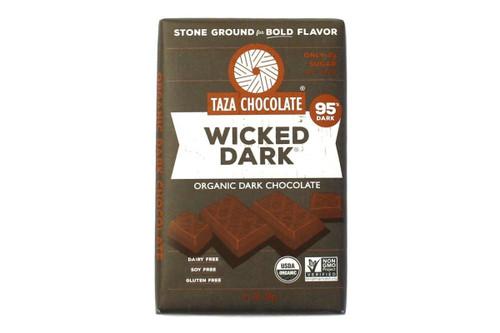 Taza Chocolate Organic Dark Chocolate Bar Stone Ground Wicked Dark