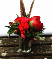 Festive Posy in a Jar