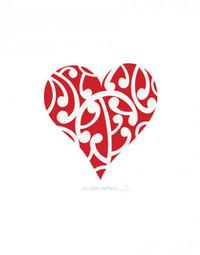 Unfurling Love Blank Card