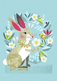 Pretty Rabbit Blank Card