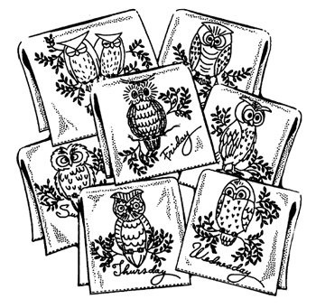 Hooty Owls Aunt Martha/'s Hot Iron Embroidery Transfers Pattern #3771