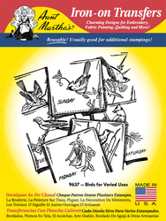 Aunt Martha's Embroidery Transfer Pattern #9637 Birds for Varied Uses