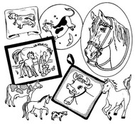 Aunt Martha's #3833 Cows and Horses