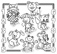 Aunt Martha's #3927 Kid's Number Sampler