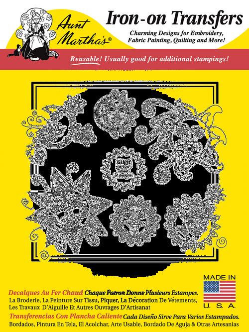 Aunt Martha's Embroidery Transfer Pattern #3947 Sol y Luna