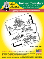 Aunt Martha's Embroidery Transfer Pattern #3436 Pillowcases
