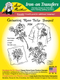 Aunt Martha's Embroidery Transfer Pattern #3924 Large Carnation, Rose, Tulip, & Jonquil