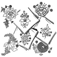 Aunt Martha's #3605 Posies for Linens