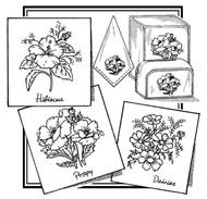 Aunt Martha's #3864 Hibiscus, Poppy, & Daisies