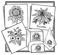 Aunt Martha's #3865 Sunflower, Pansies, & Poinsettia