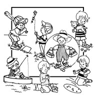 Aunt Martha's Embroidery Transfer Pattern #3911 Little Boy Tea Towels