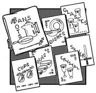Aunt Martha's #3371 Cross Stitch Dishes