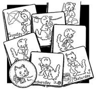 Aunt Martha's #3502 Stitch a Kitten Cross Stitch