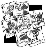 Aunt Martha's #3788 Decorator Motifs for Tea Towels