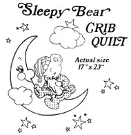 Aunt Martha's #3832 Sleepy Bear Crib Quilt