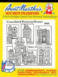 Aunt Martha's Embroidery Transfer Pattern #3895 Cross Stitch Victorian Houses