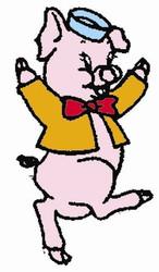 Aunt Martha's #3977 Three Pigs Crib Quilt