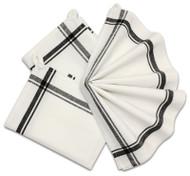 Retro Box Stripe Towels (BLACK)