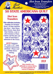 Aunt Martha's #533 50 State Americana Quilt
