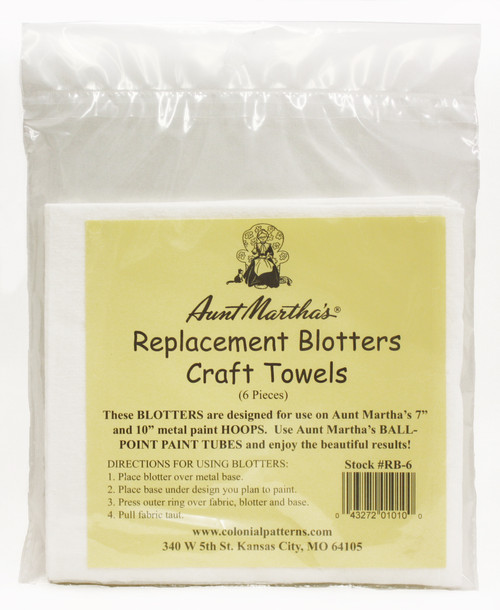 Aunt Martha's Replacement Blotters/Craft Towels (6)