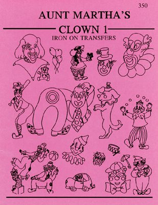 Aunt Martha's® Embroidery Transfer Pattern #350 Clowns