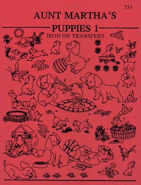 Aunt Martha's 60 Puppies Colonial Patterns Inc Classy Colonial Patterns