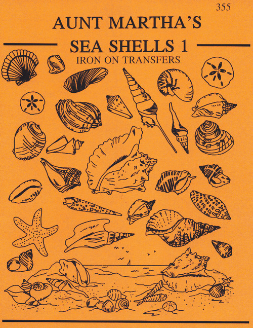 Aunt Martha's® Embroidery Transfer Pattern #355 Sea Shells
